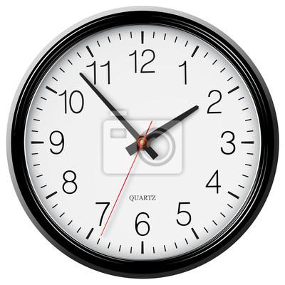 Naklejka Vector klasyczny czarny okrągły zegar ścienny