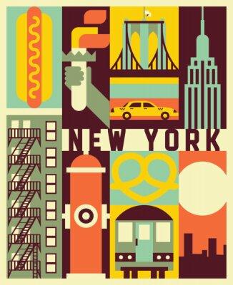 Naklejka Vector New York background