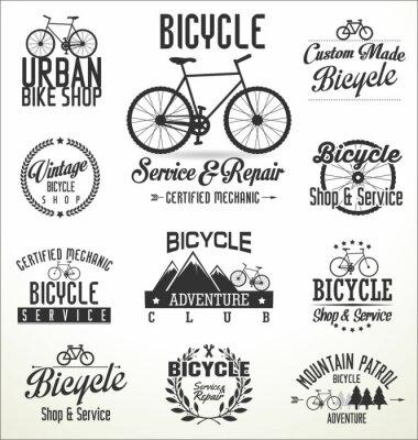 Naklejka Vector odznaki i etykiet rowerowe