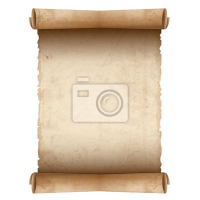 Naklejka Vector old paper scroll