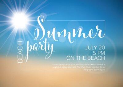 Naklejka Vector summer party invitation poster template