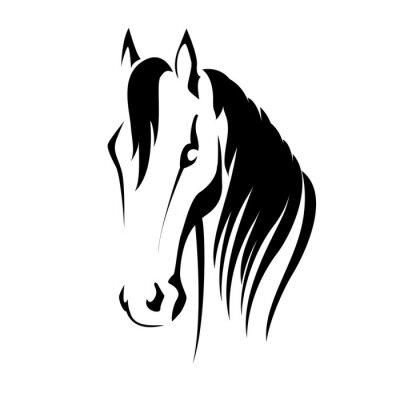 Naklejka Vector sylwetka głowa konia