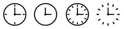 Naklejka Vector Time and Clock icons set.Clocks icon collection design. Horizontal set of analog clock icon symbol .Circle arrow icon.Vector illustration.