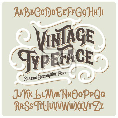 Naklejka Vector vintage typeface with beautiful classic ornate