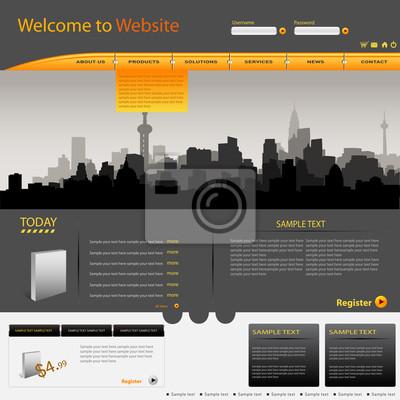 Vector web site design template