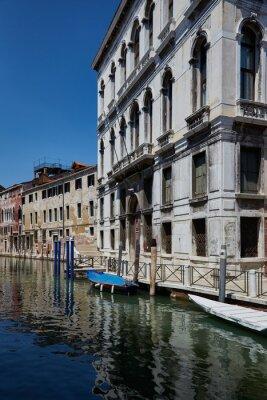 Venice, Italy. Street of Venice. Fondamenta Daniele canal