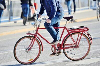 Naklejka Very red bike, close-up
