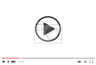 Naklejka Video player bar template for your design for web site and app