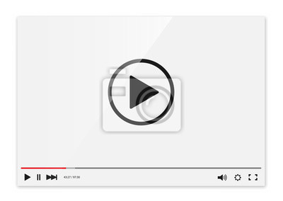 Naklejka Video player vector