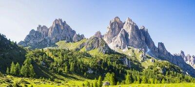 Naklejka View of the Dolomite mountains near Misurina, Veneto - Italy