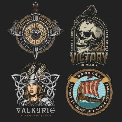 Naklejka Viking colorful vintage designs