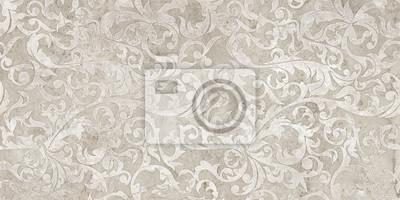 Naklejka vintage background with floral damask pattern