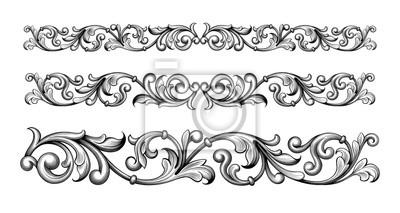 Vintage barokowy wiktoriański ramka granica monogram kwiatowy wygrawerowany przewiń ornament liść retro kwiatowy wzór dekoracyjny projekt tatuaż czarno-biały filigran kaligrafia wektor tarcza heraldyc