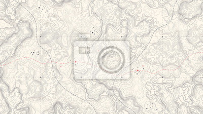 Naklejka Vintage Detailed Contour Topographic Map Of Wild West Abstract Vector Background. Topographic Cartography. Topographic Map. Topographic Relief. Topography Map. Topography Relief