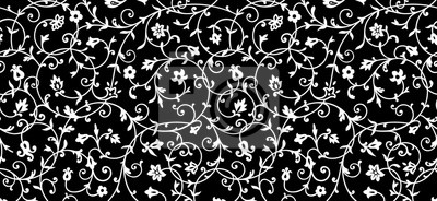 Naklejka Vintage floral pattern. Rich ornament, old style pattern for wallpapers, textile, Scrapbooking etc.
