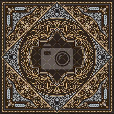 Naklejka Vintage ornate decorative design card
