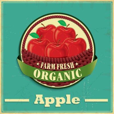 Naklejka Vintage plakat jabłko projekt