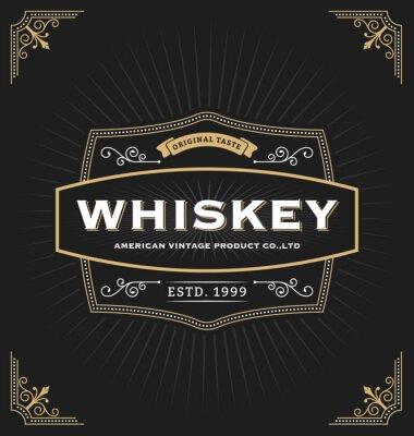 Naklejka Vintage rama etykiet, sztandar, logo, godło, menu, naklejki i inne projekty. Nadaje się do whisky, piwo, kawiarnia, hotel, ośrodek, biżuterii i produktów premium. Wszystko Typ bezpłatnie korzystać z c