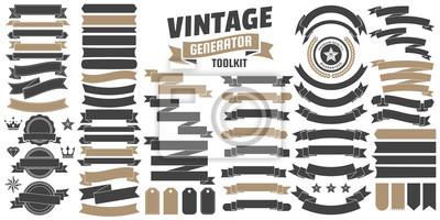 Naklejka Vintage Retro Logo wektor na baner
