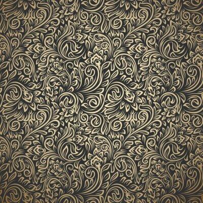 Naklejka Vintage seamless pattern with curls