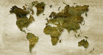 Naklejka Vintage sepia world map background