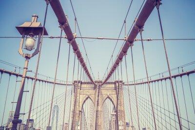 Naklejka Vintage stonowanych obraz Brooklyn Bridge, NYC.
