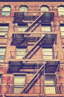 Naklejka Vintage style zdjęcie budynku w Nowym Jorku, USA.