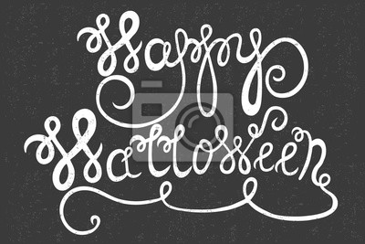 Vintage tle Happy Halloween na szarym backgr typografii
