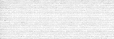 Naklejka vintage white brick wall texture background