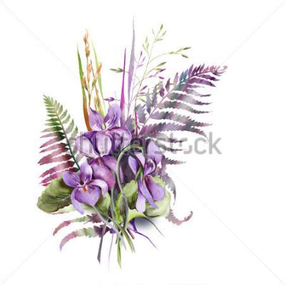 Naklejka Violas Bouquet