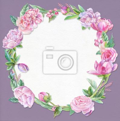 Violet floral template