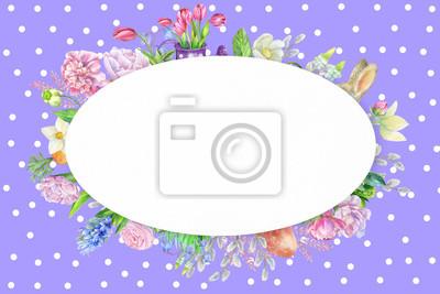Violet spring background
