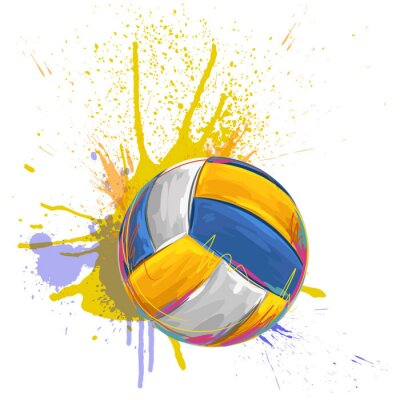 volleyball All elements are in separate layers and grouped.