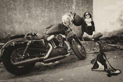 Naklejka W Viaggio con la Moto