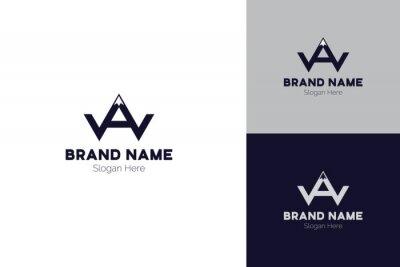 WA Letter, Mountain Logo Template