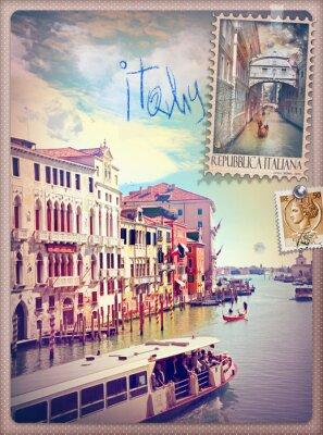Naklejka Wakacje we Włoszech i Wenecji serii