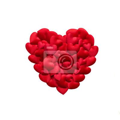 Walentynki czerwone serce na białym