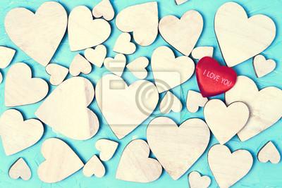 Walentynki-dzień tło z serca. Tło wakacje. Toned