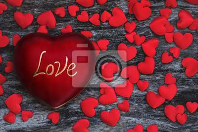 Walentynki Miłość tła z czerwonym sercem