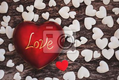 Walentynki miłość tło z białym sercem