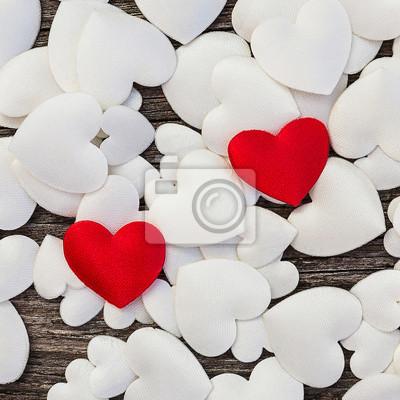 Walentynki serca w tle