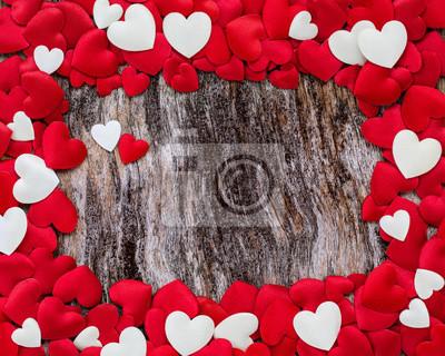 Walentynki tła z czerwonym sercem. Kopiowanie miejsca