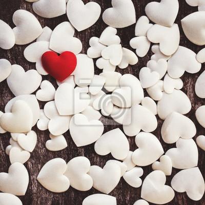 Walentynki tle z serca