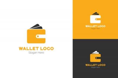 Wallet Logo Abstract Design Vector