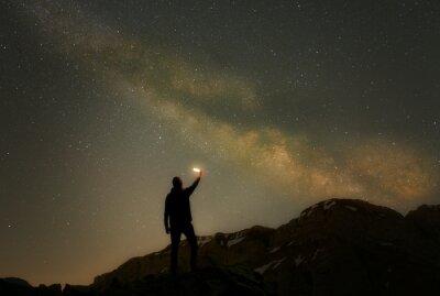 Naklejka Wanderer im Sternenmeer