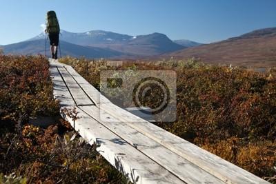 Wanderin unterwegs auf dem Padjelantaleden