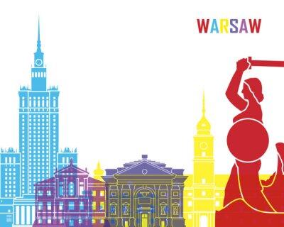 Naklejka Warsaw skyline pop