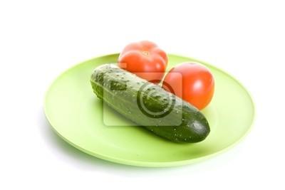 warzywa na tabliczce odizolowane
