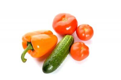 warzywa samodzielnie na białym tle