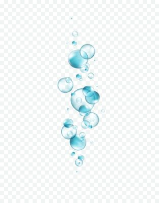 Water bubbles isolated on transparent background. Realistic collagen droplet pattern. Vector clear blue underwater elements template